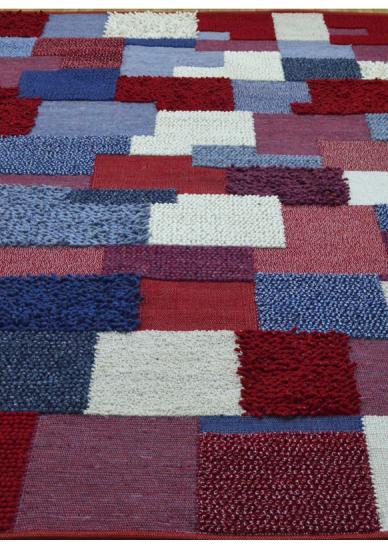 Tapis patchwork mixte